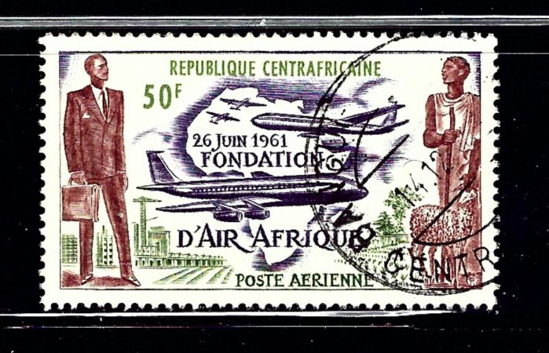 Central Africa Rep C5 Used 1962 Overprint