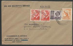PAPUA NEW GUINEA Australia period 1952 cover Port Moresby to Lae...........25792
