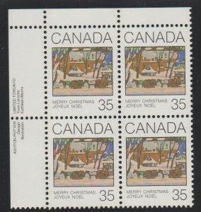 Canada 872 Christmas 1980 - MNH - Block