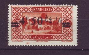 J23992 JLstamps 1926 lebanon mh #68 ovpt
