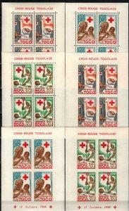 Togo #B12a-B14a MNH Perf & Imperf CV $30.00 (SU8636)