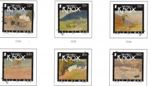 Isle of Man Sc 1334-9 2009 Knox Watercolours stamp set used