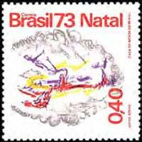 BRAZIL 1973 - Scott# 1321 Christmas Set of 1 NH