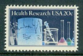 2087 20c Health Research Fine MNH Plt/4 LL A11111 F02010