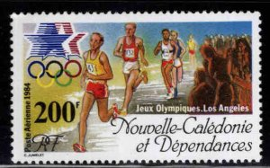 New Caledonia (NCE) Scott C199 MNH** Summer Olympics 1984 Runners stamp