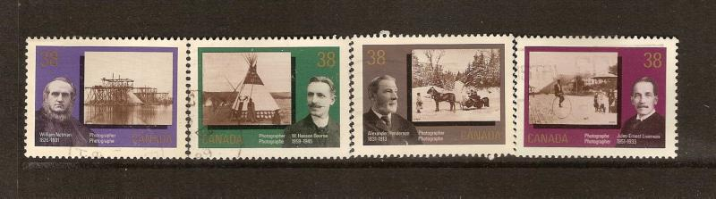 CANADIAN SET ON CANADIAN PHOTOGRAPHY #1237-1240 STAMPS  LOT#300