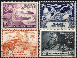 Malaya Negri Sembilan #59-62    F-VF Used CV $10.75  (X1333)