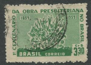 Brazil - Scott 902 - Burning Bush - 1959 - Used- Single 3.30cr Stamp
