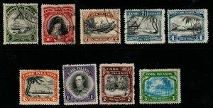 COOK ISLANDS SG137/45 1944-6 DEFINITIVE SET WMK MULTIPLE STAR FINE USED