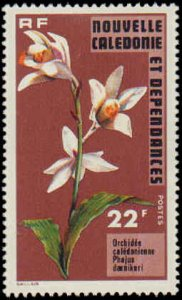 New Caledonia #408-409, Incomplete Set(2), W/O Airmail, 1975, Flowers, Hinged