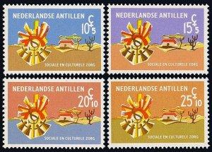 Netherlands Antilles B85-B88, MNH. Lintendans (Dance) and Koeoekoe house, 1968