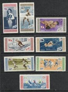 Dominican Republic #501-5 C106-8 comp mnh cv $2.60 Olympics