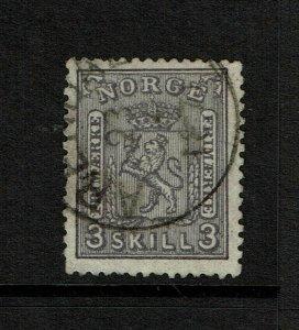 Norway SC# 13, Used, top corner crease - S9195