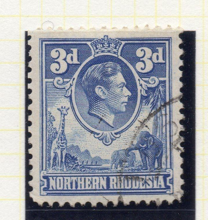 Northern Rhodesia 1950 Early GVI Issue Fine Used 3d. 107765
