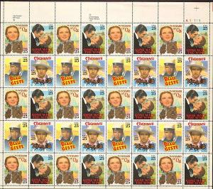 US #2445-48 Mint Sheet Classic Films