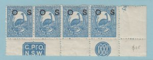 NEW SOUTH WALES O25  MINT NEVER HINGED OG ** NO FAULTS VERY FINE!