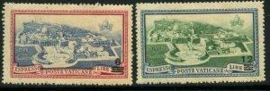 VATICAN Sc#E7-E8 1945 Overprint EXPRESS Set Mint OG Hinged
