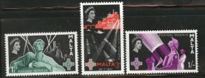MALTA  Scott 269-71 MH* set