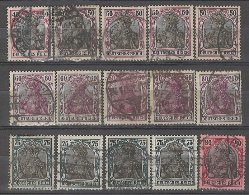 COLLECTION LOT # 4941 GERMANY 15 STAMPS 1905+ CLEARANCE CV+$25