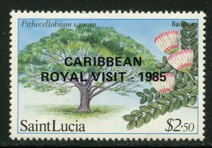 St Lucia 1985 Royal Visit Overprints set Sc# 796-802 NH