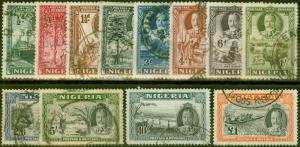 Nigeria 1936 set of 12 SG34-45 Fine Used