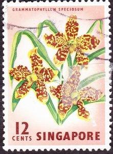 SINGAPORE 1963 12c Multicoloured SG70 FU