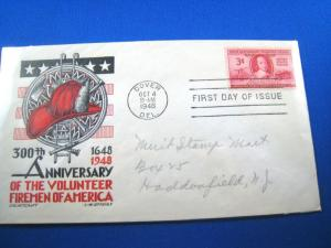 U.S. FDC - SCOTT # 971 -  VOLUNTEER FIREMEN