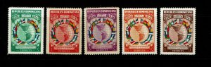 Dominican Republic SC# 351-355 Mint Never Hinged/Few Minor Gum Blemishes - S9173