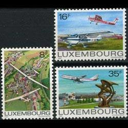 LUXEMBOURG 1981 - Scott# 663-5 Planes Set of 3 NH