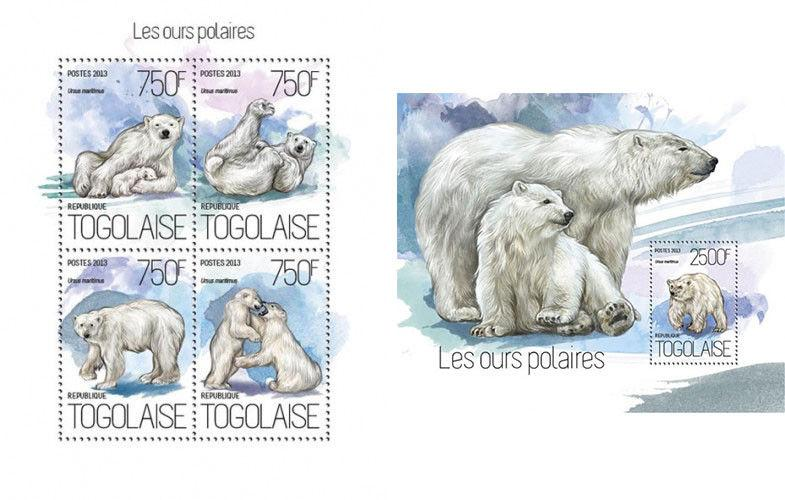 Polar Bears Eisbären Animals Fauna Tiere Togo MNH stamp set