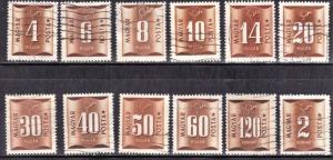 HUNGARY  SCOTT# J198-209  POSTAGE DUE STAMPS