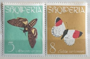 Albania Butterflies Postage Stamps 1963 M/Mint Condition