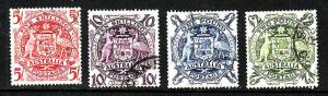 Australia-Sc.#218-21-used Arms of Australia set-1949-50-