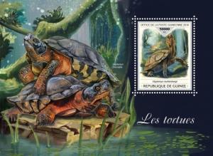 Z08 IMPERF GU18411b GUINEA (Guinee) 2018 Turtles MNH ** Postfrisch