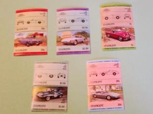 St. Vincent - 773-77, MNH Set. Automobiles (Pairs). SCV - $1.90
