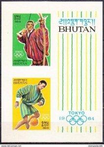 1964 Bhutan 38-39/B1b 1964 Olympic Games in Tokio 20,00 €