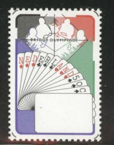 Netherlands Scott 601 MNH** 1980 Bridge Players cards