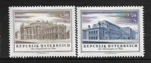 AUSTRIA,606-607, MINT HINGED, OPERA HOUSE IN VIENNA