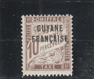 French Guiana  J2  MH  (1925 Overprinted)