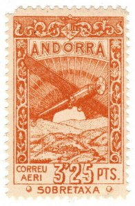 (I.B) Andorra Postal : Air Mail 3.25P
