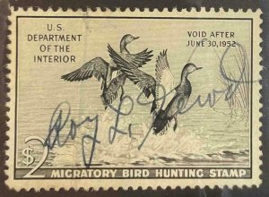 US Stamps #RW18 Used Federal Ducks #RW18A160