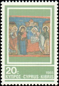 Cyprus #662-664, Complete Set(3), 1985, Never Hinged