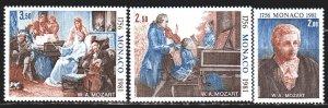 Monaco. 1981. 1470-72. Mozart, composer, dog. MNH.