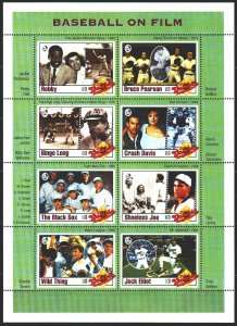 Gambia. 1993. Small sheet 1505-12. Baseball, baseball movies. MNH.
