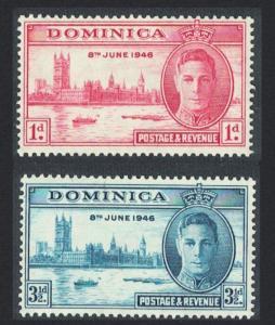 Dominica World War II Victory 2v SG#110-111