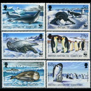 BR.ANTARCTIC TERR. 1992 - Scott# 192-7 Seals Set of 6 NH