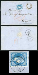 Cyprus 1872 (12 Mar) wrapper to Syros with a very fine LARNACCA DI CIPRO cds