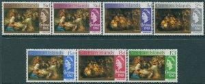 Cayman Islands 1968 SG215-220 Christmas set MNH