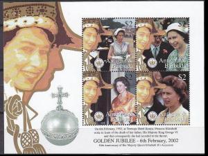 2002Antigua & Barbuda3675-78KL50 years of the coronation of Elizabeth II Gold