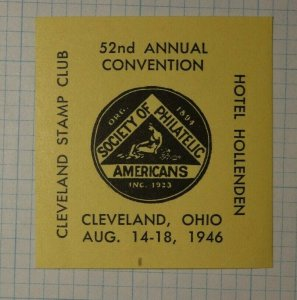 SPA Annual Convention 1946 Hotel Hollenden Cleveland OH Philatelic Souvenir Ad
